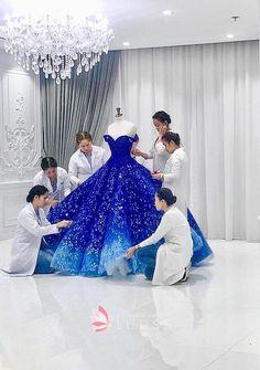 Ombre Off-the-shoulder Embroidered Quinceanera Gown Royal blue to ocean blue ombre off the shoulder embroidered Quinceanera gown<br> Royal blue to ocean blue ombre Quinceanera gown. Off-the-shoulder blue ombre embroidered ball gown. Pretty Quinceanera Dresses, Cute Prom Dresses, Blue Wedding Dresses, Pretty Dresses, Bridesmaid Dresses, Elegant Dresses, Navy Blue Quinceanera Dresses, Quinceanera Decorations, Gown Wedding