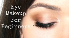 Beginner Eye Makeup Application....I LOVE this because it shows you the basics and now I see there are some things I was doing wrong! Going to watch this while I put on my makeup next time.