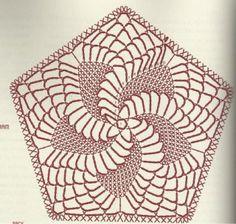 Angels Cradle: Crochet pentagon doily