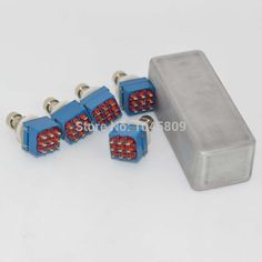 1X 1590A Guitar pedal enclosure -5 X 9-pin 3PDT Guitar Effects Pedal Box Stomp Foot Metal Switch True Bypass