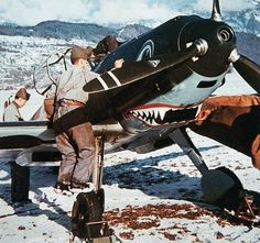 A Bf109 E3 A with terrific nose art.  This picture really gives a good idea of…
