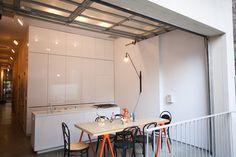 A closer view of the condo kitchen.