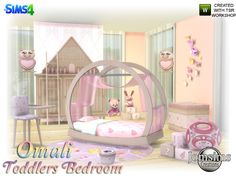 Sims 4 CC's - The Best: Omali Toddlers Bedroom by Jomsims