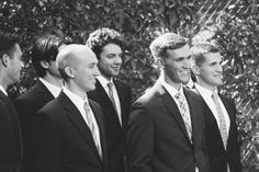 Navy suits and mixed ties // Caitlin Alysse Photography