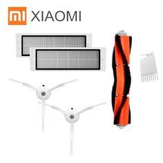 XIAOMI MI Robot Vacuum Part Pack Side Brush X2PC, HEPA Filter X2PC, Main Brush X1PC, Cleaning Tool X1PC