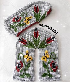Best 12 Happy Nights to everyone güzellik These beauties, and – SkillOfKing. Tunisian Crochet Stitches, Apple Wallpaper Iphone, Crochet Blouse, Knitted Gloves, Baby Booties, Kids And Parenting, Diy And Crafts, Slippers, Sewing