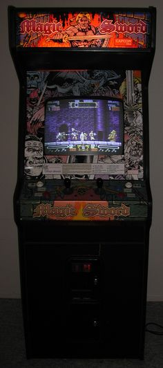 Magic Sword arcade game in an upright cabinet