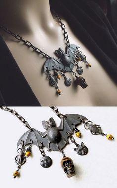 DIY Inspiration - Halloween Bat Necklace