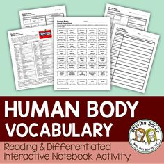 Our Human Body Interactive Science Notebook differentiated vocabulary lessons are perfect for any classroom. Covering prefixes, suffixes, and root words used in medical terminology and human anatomy studies, your students will be interacting with the terms with a variety of activities included.