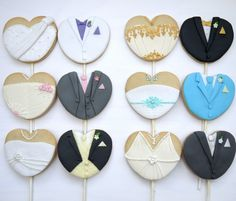 Bride and Groom Cookies from Hello Babycakes