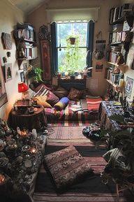 boho bohemian bedroom floor bed