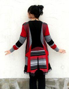 túnica de suéter reciclado de principios de la por jamfashion