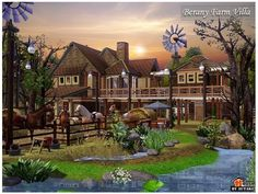 This house for your simmies. Found in TSR Category 'Sims 3 Residential Lots' Farm Villa, Sims 3 Worlds, The Sims 4 Lots, Mod Furniture, Casas The Sims 4, Sims Games, Sims Ideas, Sims Community, Sims House