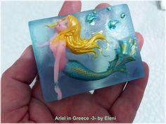 Ο ΝΕΡΑΙΔΟΚΗΠΟΣ της Eλενης-Aντζελινας!/Χειροποιητα σαπουνια-καλλυντικα/ΕLENI'S FAIRY GARDEN: Ariel in Greece - 3 - soap by Eleni