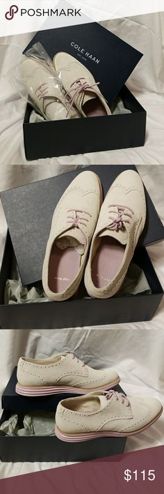 Cole Haan lunargrand wing tip COLOR:SANDSHELL WATERPROOF SUEDE-PALE LILIAC  Classic, rich in color and texture, can be worn business casual or sporty; waterproof suede and finished with brogue detailing. Cole Haan Shoes