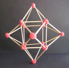 Kids love any opportunity to work in and are surprised to discover all they can make using just toothpicks and some modeling material. Math Art, Fun Math, Art Drawings For Kids, Art For Kids, Toothpick Sculpture, Toothpick Crafts, 3d Pyramid, Shapes For Kids, 5th Grade Art