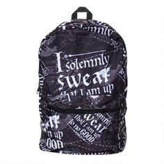 You'll never forget these signature words for revealing the Marauder's Map thanks to the Harry Potter Solemnly Swear Backpack.