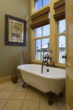 Freestanding Tub. Isn't this beautiful?