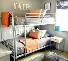 Boy bedroom ideas with bunk beds bunk bed rooms bunk bed bedroom ideas modern home decorating Small Bunk Beds, Ikea Bunk Bed, Twin Full Bunk Bed, Bunk Beds For Boys Room, Bunk Bed Rooms, Beds For Small Rooms, Bunk Bed Plans, Loft Bunk Beds, Bunk Beds With Stairs