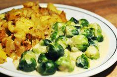 von veganen Küchengelüsten und anderen Dingen...: Creme-Kohlsprossen mit Kartoffelschmarrn