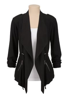 flowy cinched waist jacket (original price, $49) available at #Maurices