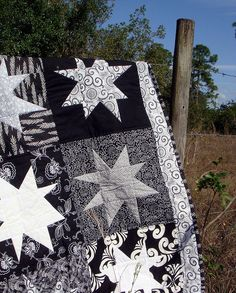 black white quilt closeup by becauseimme, via Flickr