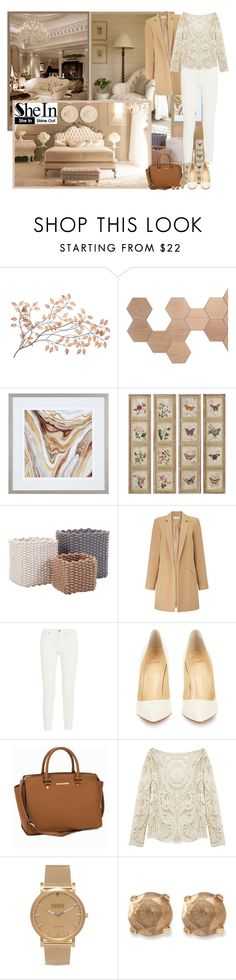 """""""Beige Lace Blouse with SheIn - Contest!"""" by asia-12 ❤ liked on Polyvore featuring Est. 98, Barneys New York, Miss Selfridge, Acne Studios, Christian Louboutin, MICHAEL Michael Kors, Shore Projects, women's clothing, women and female"""