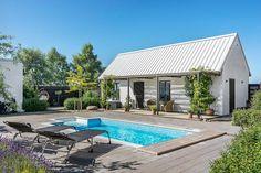Gästhus med 2 sovrum, badrum, terrass o pergola Outdoor Rooms, Outdoor Living, Outdoor Decor, Ibiza, Beddinge, Modern Pools, Backyard, Patio, Garden Pool