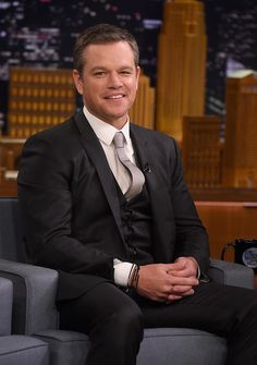 "Matt Damon Photos - Matt Damon visits ""The Tonight Show Starring Jimmy Fallon"" at Rockefeller Center on July 2016 in New York City. - Matt Damon Visits 'The Tonight Show Starring Jimmy Fallon' Matt Damon Ben Affleck, Luke Hemsworth, Freddie Prinze, Jason Bourne, Matt Leblanc, Chad Michael Murray, The Expendables, Jason Statham, Jackie Chan"