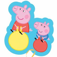 Peppa and George Supershape Foil Balloon - Peppa Pig - Party Ark Disney Balloons, Bubble Balloons, Helium Balloons, Foil Balloons, George Pig, Peppa Pig Y George, Peppa Pig Familie, Fiestas Peppa Pig, Peppa Pig Party Supplies