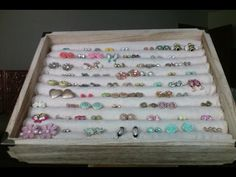 EASY DIY: JEWELRY BOX (STUD EARRINGS AND RING HOLDER) - YouTube