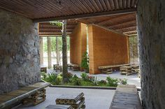 H architects: bamboo, earth and stone (BES) pavilion in ha tinh city, vietnam