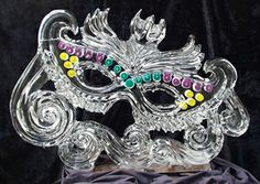 Masquearde Ball Mask made from Ice