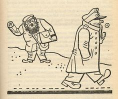 "Josef Lada – Illustration for Jaroslav Hašek's ""The Good Soldier Švejk and His Fortunes in the World War,"" 1924 The Good Soldier Svejk, World War One, First Novel, Illustrators, Fairy Tales, Literature, Sketches, Cartoon, Painters"