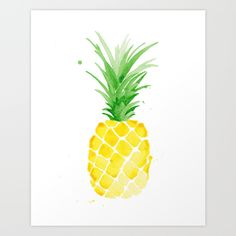 Buy Piña - Yellow by THE AESTATE as a high quality Art Print. Worldwide shipping available at Society6.com. Just one of millions of products available.