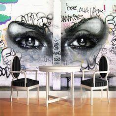 graffiti karaoke american mural beibehang european sitting bar aliexpress