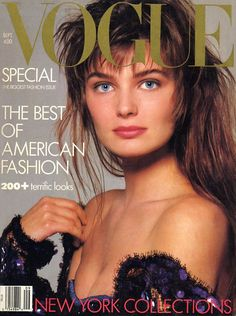 Paulina Porizkova, photo by Richard Avedon, Vogue US, September 1986*