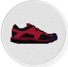 Running Shoes Cross Stitch Pattern