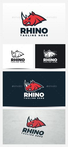 Rhino  Logo Design Template Vector #logotype Download it here: http://graphicriver.net/item/rhino-logo/13101263?s_rank=1715?ref=nexion