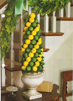 Lemon & Lime Topiary.  Clever.