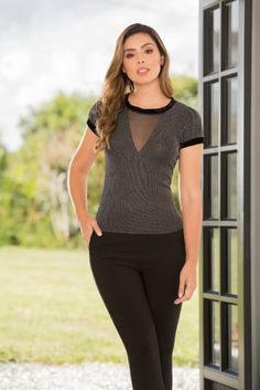 #moda #blusa #negro #dyaboo #estilo