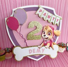 Lollos en lettie invitation and save the date. Paw Patrol Pinata, Girl Paw Patrol Party, Sky Paw Patrol, Paw Patrol Birthday Theme, Paw Patrol Cake, Paw Patrol Everest, Girl 2nd Birthday, 4th Birthday Parties, Party Themes