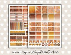 Autumn / Fall Leaves stickers set To Do Heart by EireenStickers