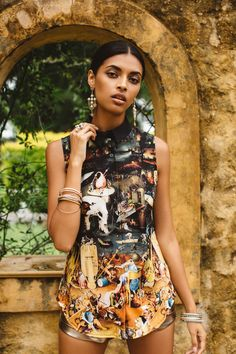 Unearthly Delights Business Time Shirt - LIMITED ($80AUD) by BlackMilk Clothing