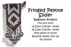 Bead Mavens: Fringed Peyote Slider Pendant. #Seed #Bead #Tutorials