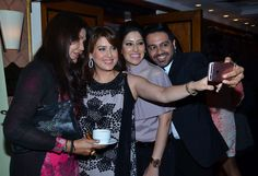 Nisha JamVwal, Amrita Raichand, Maheka Mirpuri and Nitish Shah at the I Am Woman event