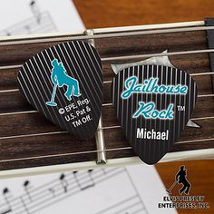 Elvis Jailhouse Rock™ Personalized Guitar Picks - you can customize them with your own name! Great gift idea for big Elvis fans! #Elvis #Guitar #Music