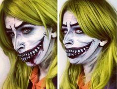 Halloween Makeup: The Female Joker Makeup! #joker #halloweenmakeup #makeup