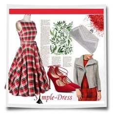 """""""simpledress24"""" by crvenamalina ❤ liked on Polyvore featuring vintage and simpledress"""