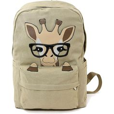 Sleepyville Critter Nerdy Baby Giraffe Backpack